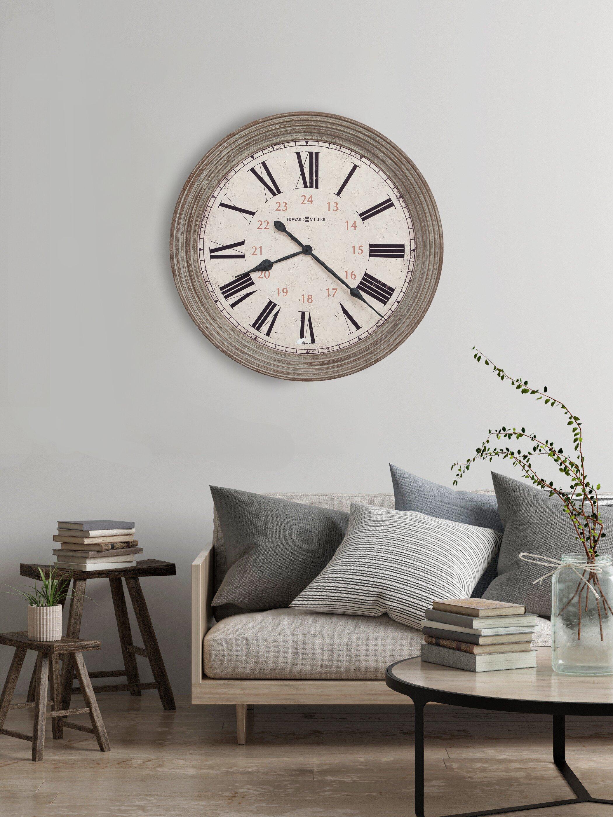 Howard Miller Oversized Nesto 30 75 Wall Clock Reviews Wayfair