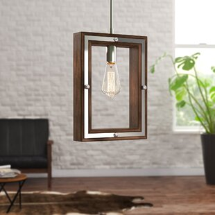 Graver 1-Light Square/Rectangle Pendant by Ivy Bronx
