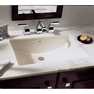 Read Reviews Studio Vitreous China Rectangular Undermount Bathroom Sink with Overflow ByAmerican Standard