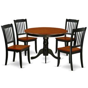 Korhonen 5 Piece Solid Wood Dining Set