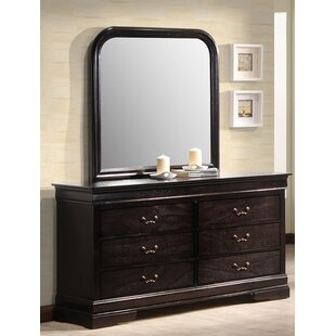 Sexton 6 Drawer Double Dresser with Mirror