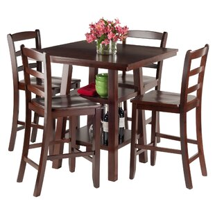 Pratt Street 5 Piece Dining Set Red Barrel Studio