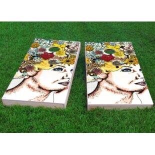 Custom Cornhole Boards Lady with Flowers in Hair Cornhole Game (Set of 2)