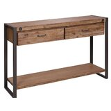 Yosemite 55.12 Solid Wood Console Table by 17 Stories