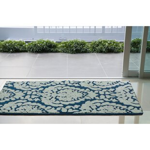 Find Arend Blue/White Area Rug ByHouse of Hampton