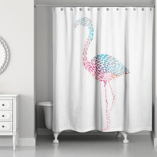 Affordable Perdue Flamingo Shower Curtain By Brayden Studio