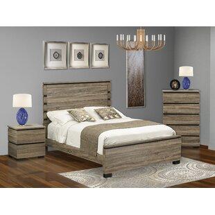 Jens Queen Solid Wood Platform 3 Piece Bedroom Set by Millwood Pines