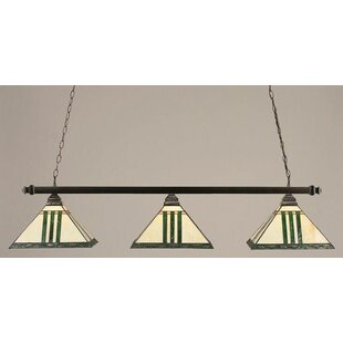 Morrow 3-Light Square Pool Table Light by Red Barrel Studio