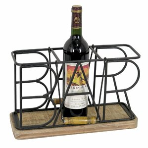 3 Bottle Tabletop Wine Bottle Rack by Foreside Home & Garden