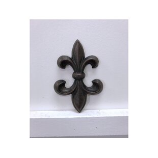 Cast Iron Fleur De Lis Wall Decor