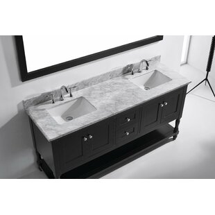 Julianna 73 Double Bathroom Vanity Set with Mirror by Virtu USA