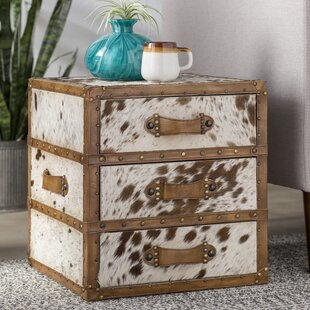 Sams Hair-on-Hide 3 Drawer Accent Chest by Loon Peak