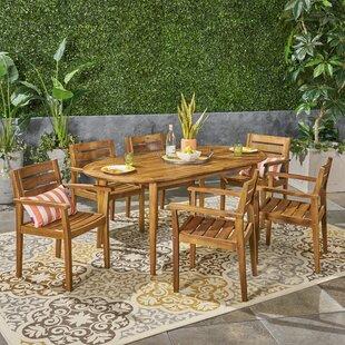 Macaulay Outdoor 7 Piece Dining Set