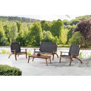 Scoggins 4 Piece Complete Patio Set