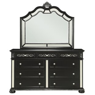 Cavanaugh 9 Drawer Double Dresser with Mirror