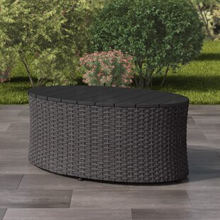 Rosecliff Heights Costanzo Weather Resistant Resin Wicker Coffee Table