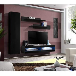 Lichtenstein Wall Mounted Floating Entertainment Center for TVs up to 70