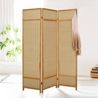 East Urban Home Minerville 47 24 W X 66 93 H 3 Panel Bamboo Folding Room Divider Wayfair