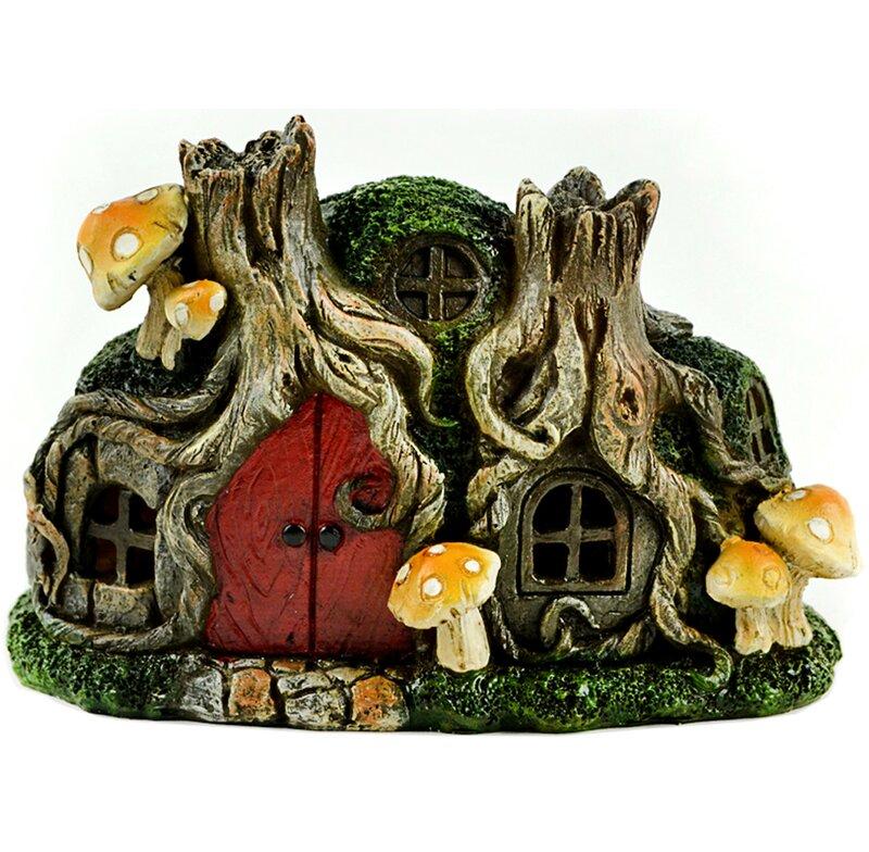 August Grove® Murray Tree Stump House Fairy Garden | Wayfair