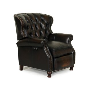 Kegler Leather Recliner by Astoria Grand
