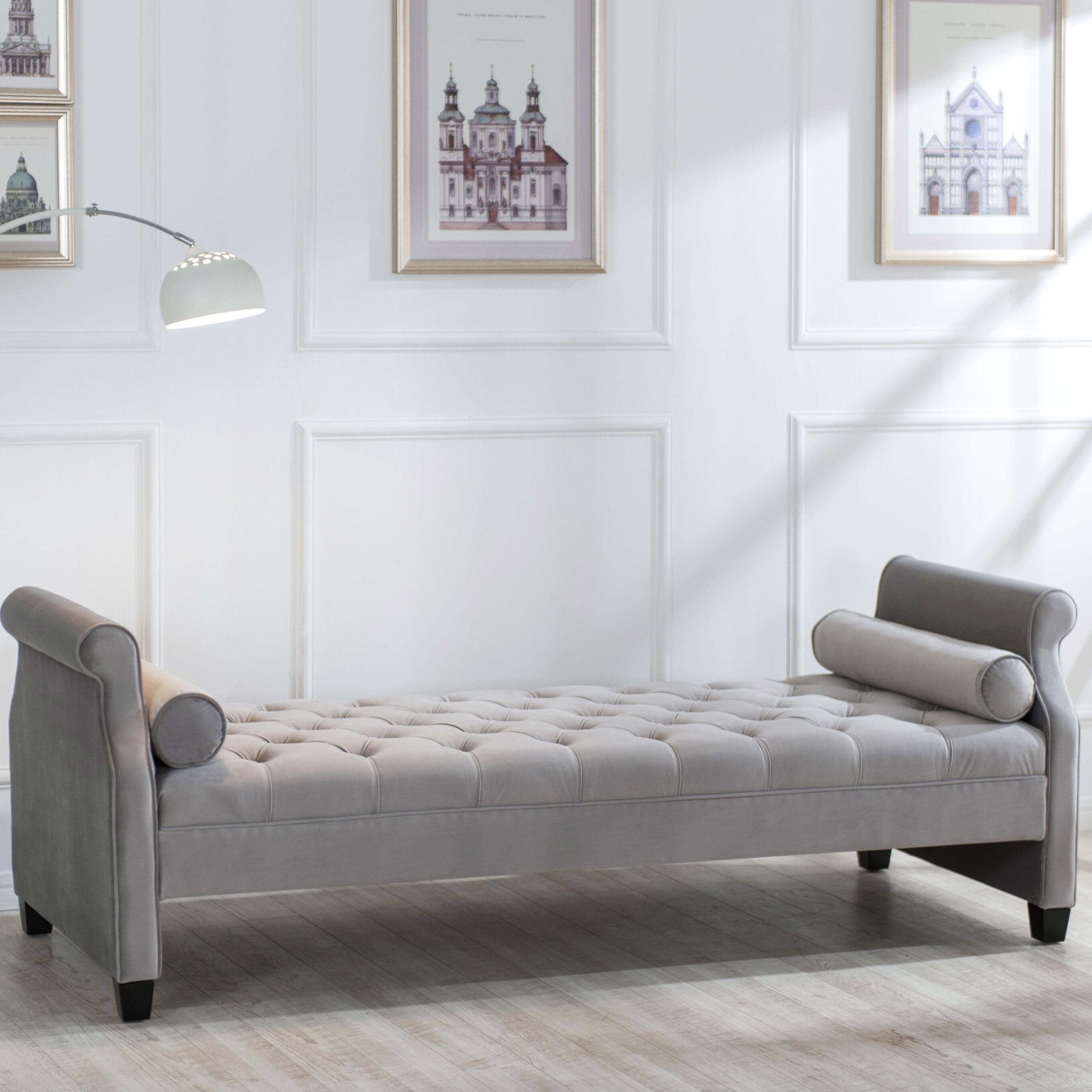 Rosdorf Park Deckard Upholstered Bench & Reviews | Wayfair
