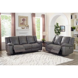 Compare prices Yamashita Lay Flat Power 2 Piece Leather Reclining Living Room Set by Red Barrel Studio Reviews (2019) & Buyer's Guide