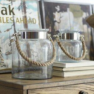Seeded Glass Lantern