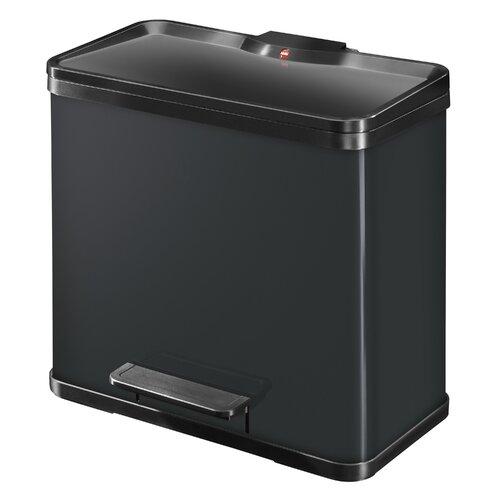26 L Tret-Abfalltrenner Öko duo Plus | Küche und Esszimmer > Küchen-Zubehör | Schwarz | Hailo