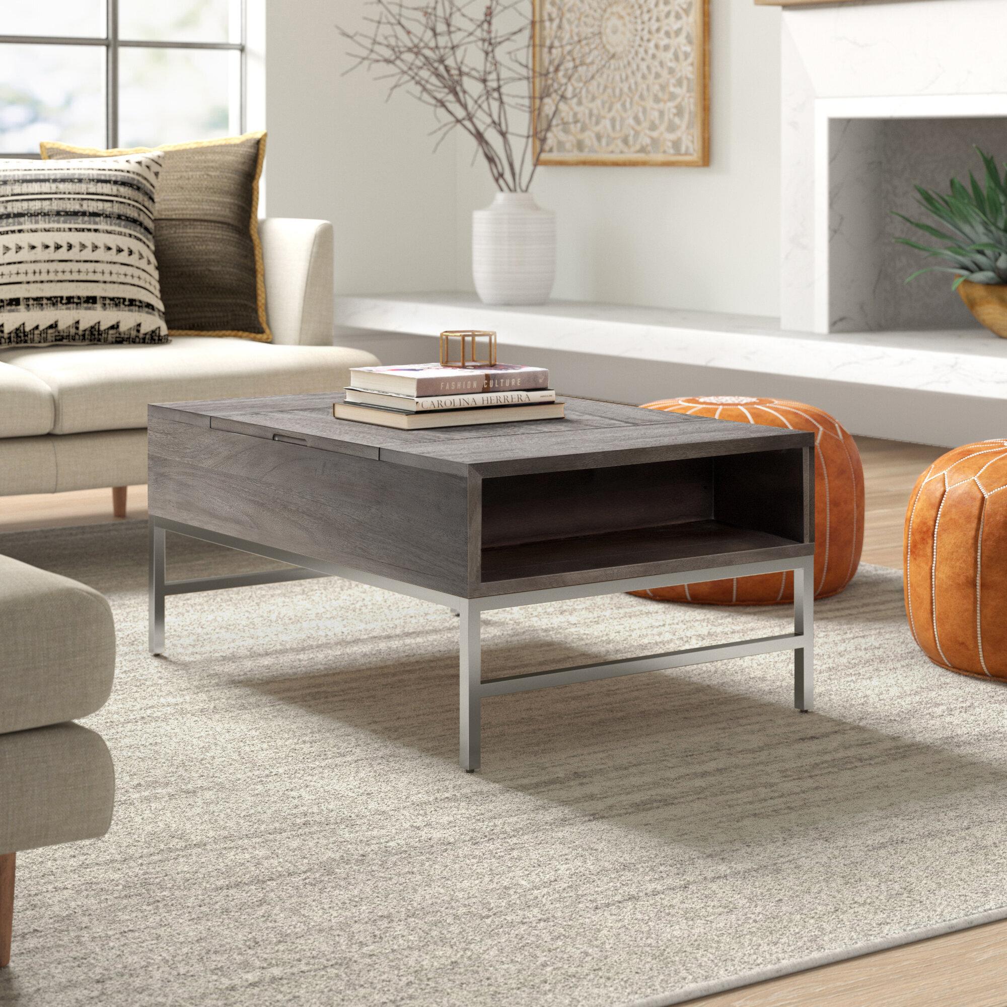 Baldwin Solid Wood Storage Lift Top Coffee Table Joss Main