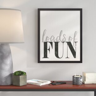 Loads Of Fun Laundry Room Framed Textual Art On Canvas