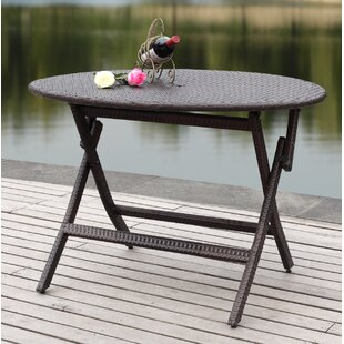 Ellis Folding Wicker Dining Table