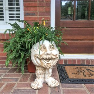 Muggly The Face Uncle Nate Statue Planter by HomeStyles