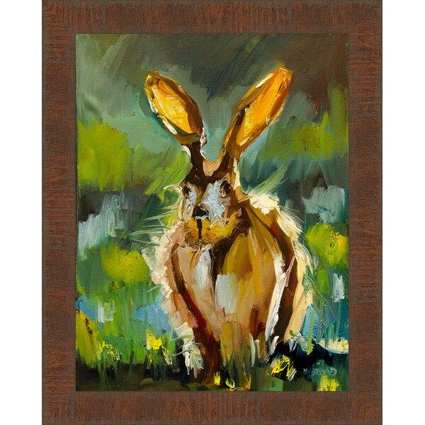 Ashton Wall Décor LLC 'Jackrabbit Morning' Framed Painting Print on on