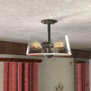 Laurel Foundry Modern Farmhouse Clayton 3-Light Drum/Cylinder Semi Flush Mount