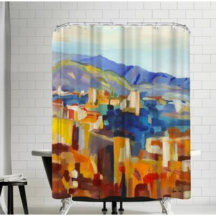 Hans Paus Abstract Landscape Single Shower Curtain