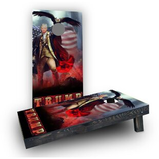 Custom Cornhole Boards Patriotic Trump Revere Eagle Background Cornhole Boards (Set of 2)