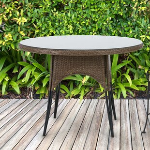 Arleigh Glass Dining Table by Bayou Breeze