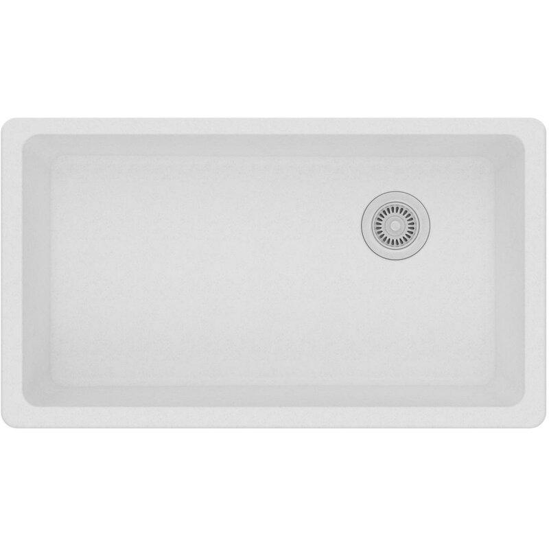 """Kitchen Sink 19 X 33: Quartz Classic 33"""" L X 19"""" W Undermount Kitchen Sink"""