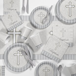 Devotion Baptism Plastic Appetizer/Dinner Plate