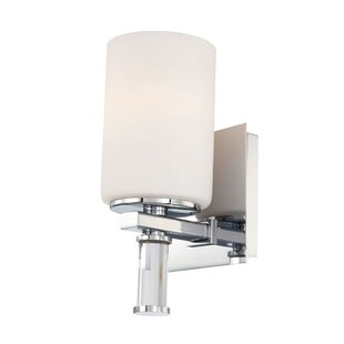 Low priced Wraxall Crystal 1-Light Bath Sconce By Winston Porter