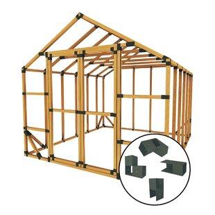 10 Ft. W X 12 Ft. D Storage Shed Kit By E-Z Frames