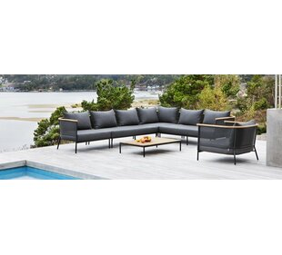 OASIQ Riad Teak Patio Sectional with Cushion