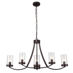Millwood Pines Alejandro Farmhouse 5-Light Sputnik Chandelier