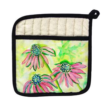 Textiles Plus Inc Printed Three Pots Of Flower Potholder Reviews Wayfair
