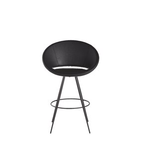 Bambi Retro Eco Leather 29 Bar Stool Ivy Bronx
