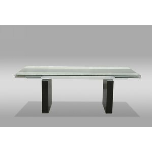 Clower Clear Extendable Dining Table by Orren Ellis