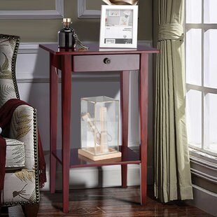 Compare Deems Tall Wood Drawer Shelf End Table by Red Barrel Studio