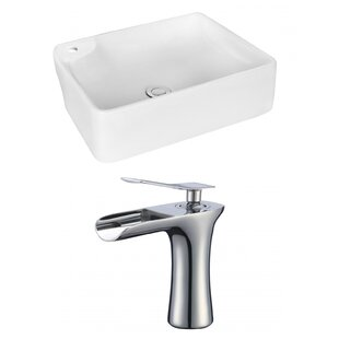 Order Ceramic Rectangular Vessel Bathroom Sink with Faucet By Royal Purple Bath Kitchen