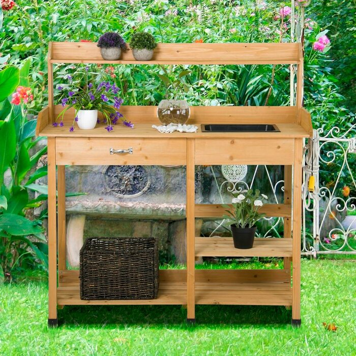 Pleasant Fir Potting Bench Ibusinesslaw Wood Chair Design Ideas Ibusinesslaworg