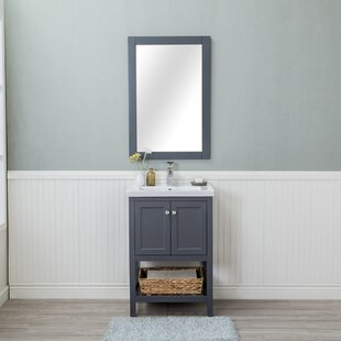 Amandari 24 Single Bathroom Vanity Set with Mirror by Winston Porter